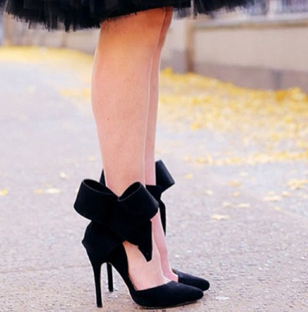 shoes red sole crystal pumps heels hight heels shiny sparkle girly black heels black pump with bow