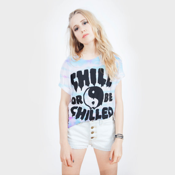 Chill Or Be Chilled tie dye Tshirt UNISEX by killercondoapparel