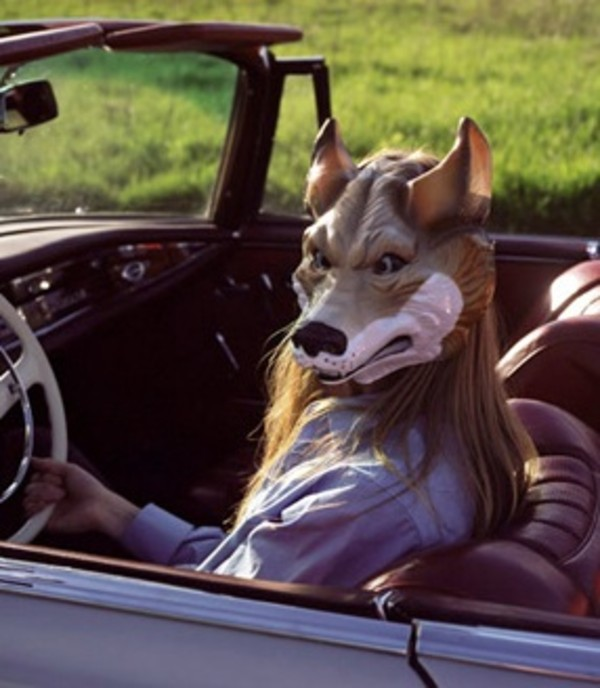 hat mask wolf cute indie hipster