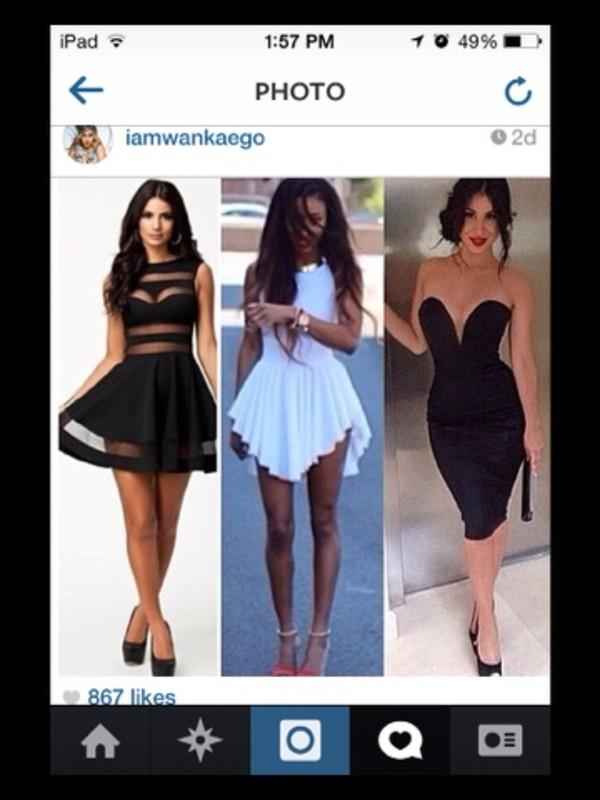 dress black sheer legs