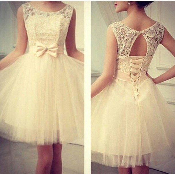 dress white dress bow dress