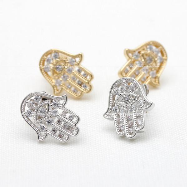 jewels jewelry studs hamsa studs hamsa earrings lucky buddha