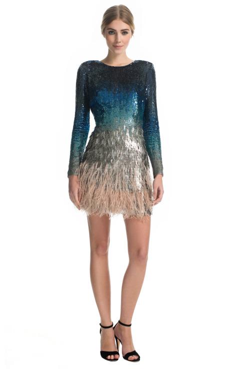 Ombre Sequin Mini Dress by Matthew Williamson for Preorder on Moda Operandi