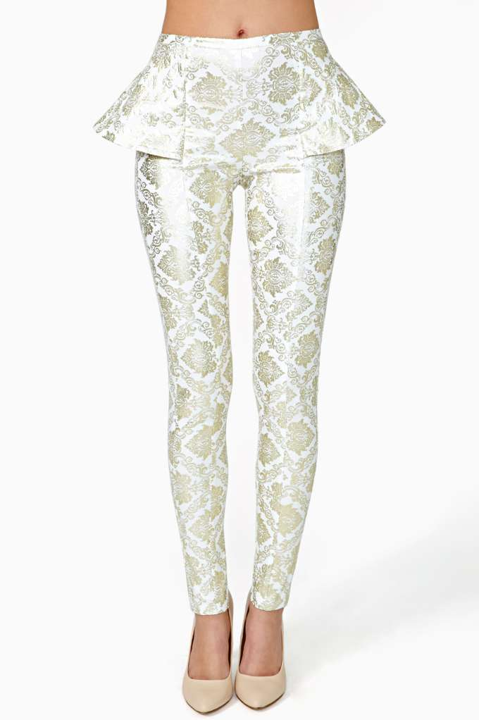 Gold Dust Peplum Pant  in  Clothes at Nasty Gal