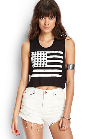 American Flag Crop Top | FOREVER 21 - 2000059069