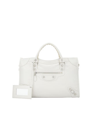 Balenciaga Giant 12 Nickel City Bag, Ivory