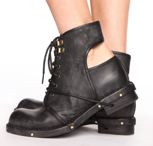 shoes cut out ankle boots boots black