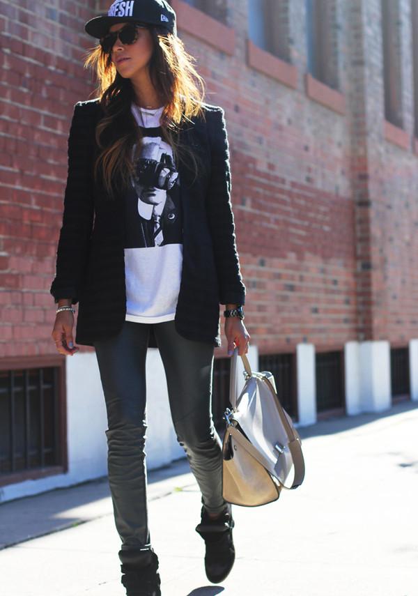 sincerely jules jacket t-shirt shoes hat bag jewels