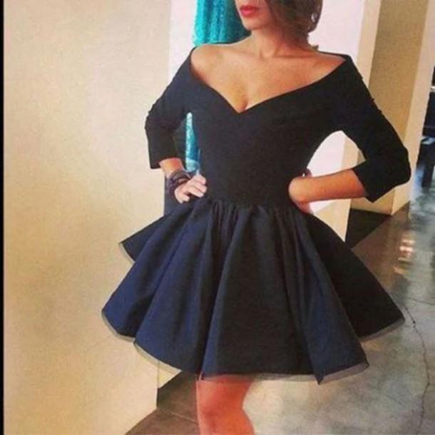 dress little black dress cleavage black dress short dress short black dress clothes v cut neck dress prom dress