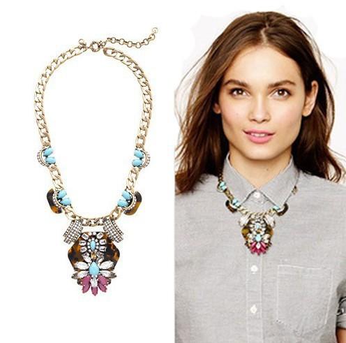 #0316 Free Shipping ! Perfume bubble bib bijoux fashion Vintage chunky choker pendant statement necklace women Emoda jewelry-in Choker Necklaces from Jewelry on Aliexpress.com