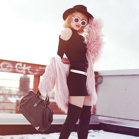 Trendy Blogger Womens Fashion Thick Round Sunglasses 8980                           | zeroUV