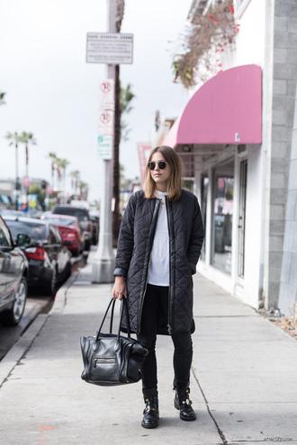 bag shoes t-shirt coat jeans after drk sunglasses