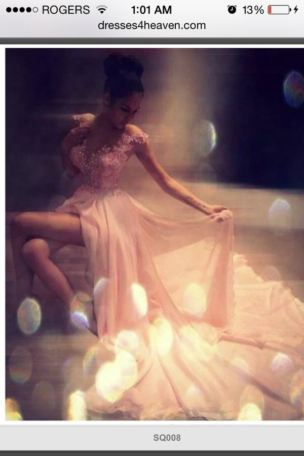 dress elegant flowy prom prom dress sequins lace sparkle legs 2014