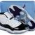 Jordan 11 Transparent Shoes Box Black/Concord-White Nike Men's Sneakers
