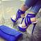Shoespie assorted color cut-out platform sandals