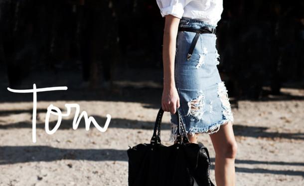torn skirt skirt