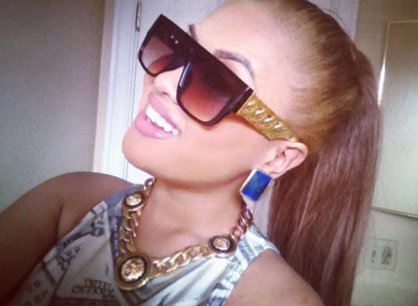 sunglasses retro sunglasses gold gold chain jewels