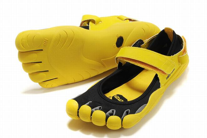 5 fingers sprint black and yellow running sneakers for male
