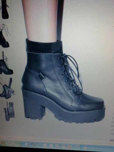 shoes grunge black shoes pretty shoes heels