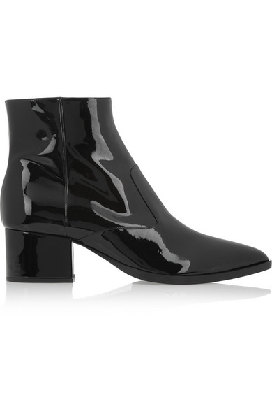 Miu Miu | Patent-leather ankle boots | NET-A-PORTER.COM