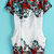 White Short Sleeve Floral Bodycon Dress - Sheinside.com
