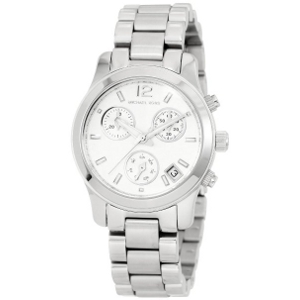 Michael Kors Silver Small Runway Chronograph MK5428 Watch - Sale