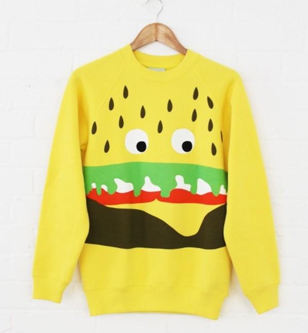 sweater hamburger
