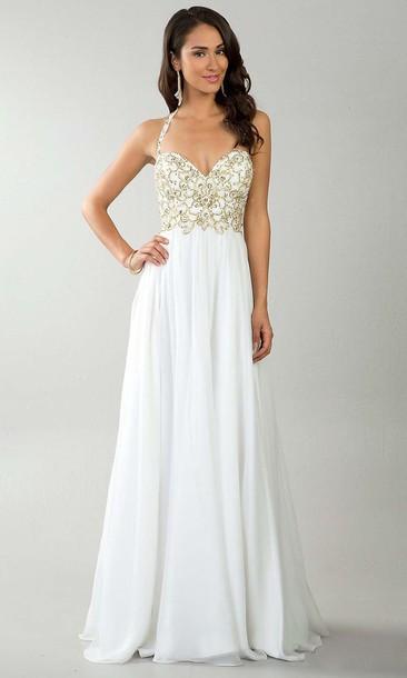 dress white dress prom dress wedding dress glamour simplychic