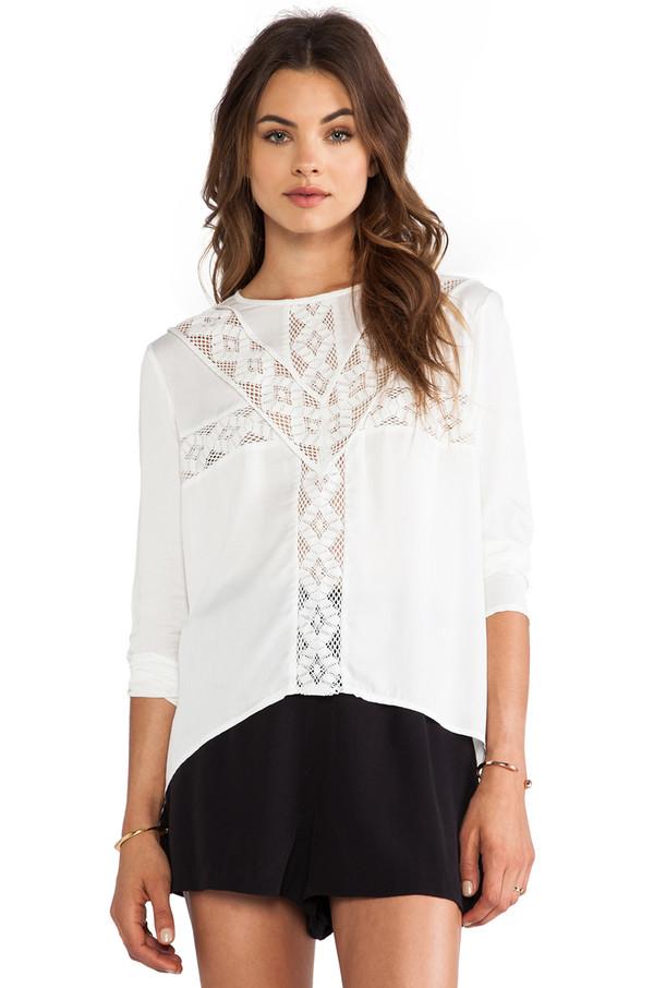 blouse three of something shorts BB Dakota