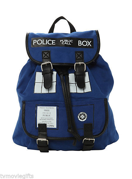 """Doctor Who Tardis Slouch Backpack 13""""x5""""x13"""" Licensed 10122098 Brand New 
