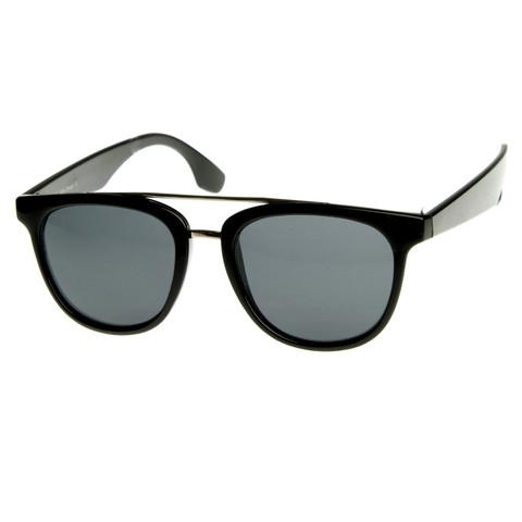 Vintage 1950's Inspired Dapper Cross Bar Wayfarer Sunglasses 8764                           | zeroUV