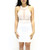 White Flower and Mesh Cut Out Dress | VidaKush