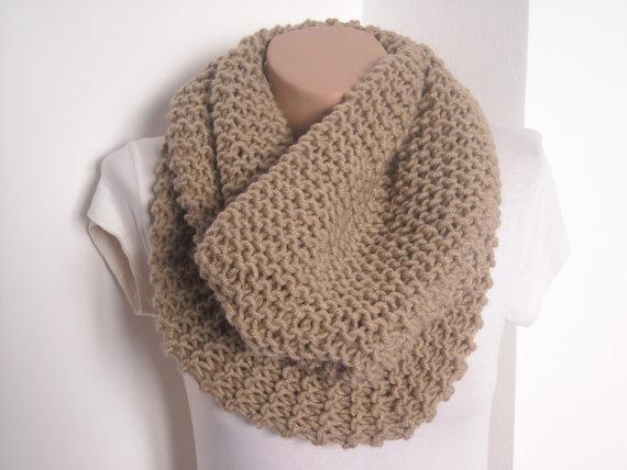 Knit scarf / knitted scarf/beige scarf/ beige knit by AYTULGIFT