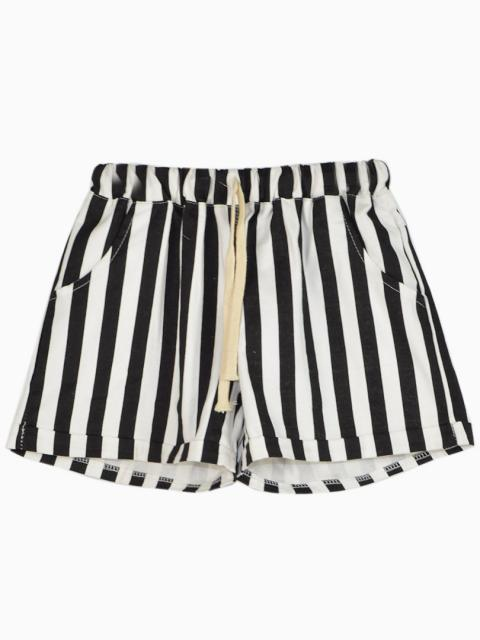 Shorts In Black And White Stripe Print | Choies