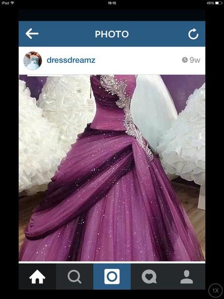 dress sparkle prom dress prom purple purple dress purple prom dresses gown ball gown dress