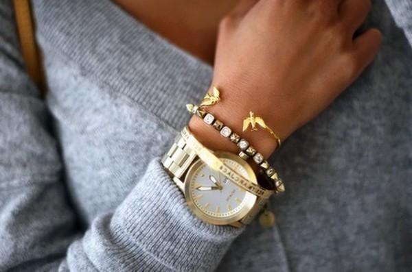 jewels bracelets birds gold watch bracelets birds cute