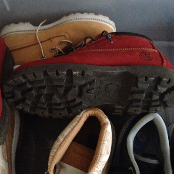 63% off Timberland Boots - Red tims like two very light scuffs on front toe from Jillian's closet on Poshmark