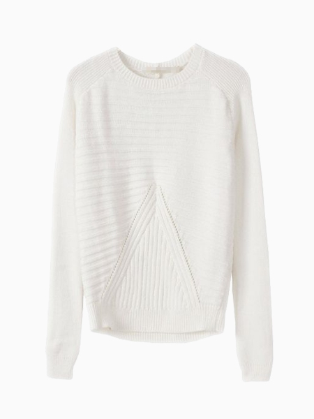 White Aran Sweater | Choies