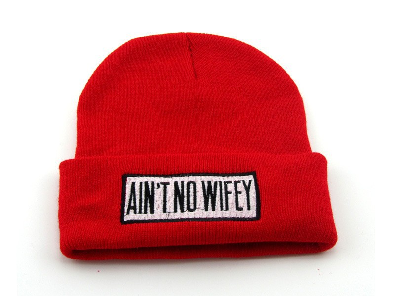 New arrival AIN'T NO WIFEY RED beanies hats  men's  knit  skullies snapbacks cap cheap online red black grey freeshipping!-in Skullies & Beanies from Apparel & Accessories on Aliexpress.com