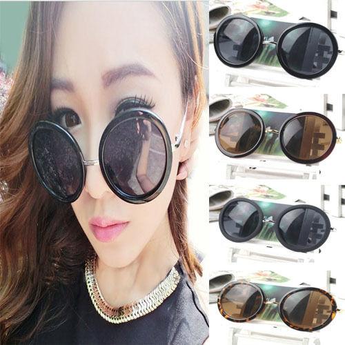 Women Fashion Vintage Big Round Frame Sunglasses UV400 Eyewear Glasses | eBay
