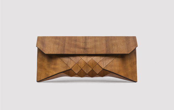 Wood Clutch // EMBOYA by TeslerMendelovitch on Etsy