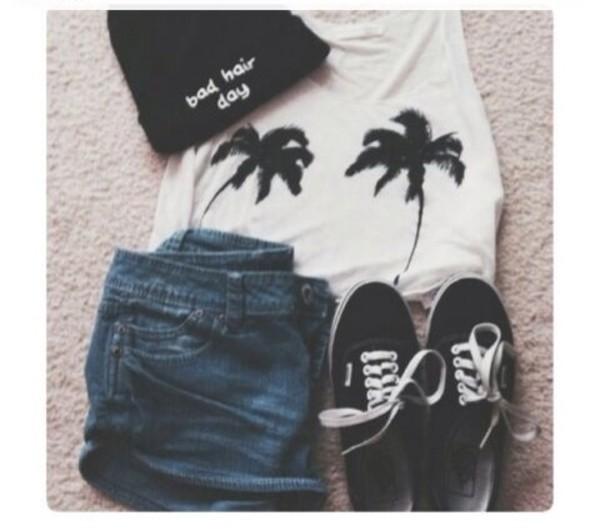 t-shirt hat shirt shorts