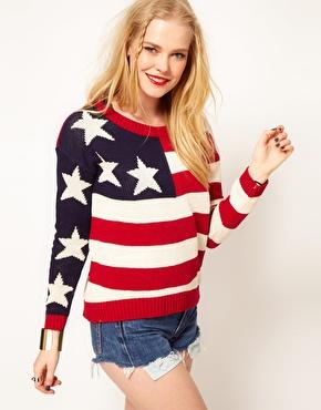 Hearts & Bows | Hearts & Bows Cotton Knit American Flag Knit Jumper at ASOS