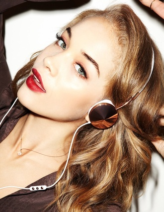 frends headphones music rose gold copper technology