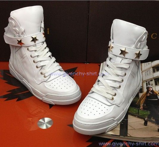 2013 Givenchy High Top Sneakers Women White | Givenchy Sneakers Women - $175.00