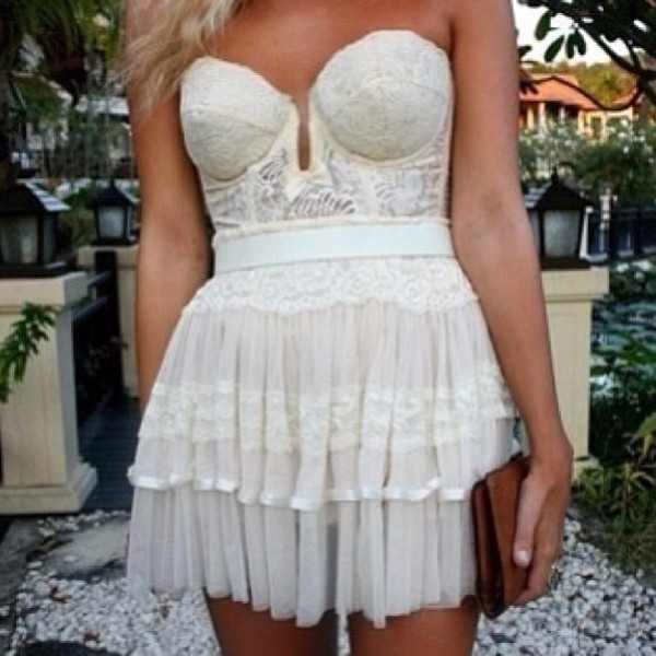 dress white lace dress strapless strapless dress white lace white dress short dress short lace dress lace dress lace strapless dress sweetheart neckline sweetheart dress