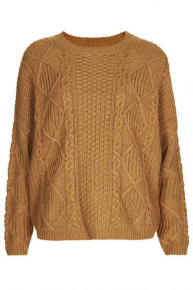 Knitted Angora Cable Jumper - Topshop