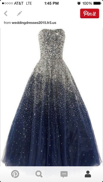 dress navy blue dress with silver  sparkly