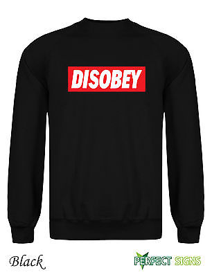 Disobey Obey Supreme Grafitti Jumper YOLO Sweatshirt s 2XL Free P P Black | eBay