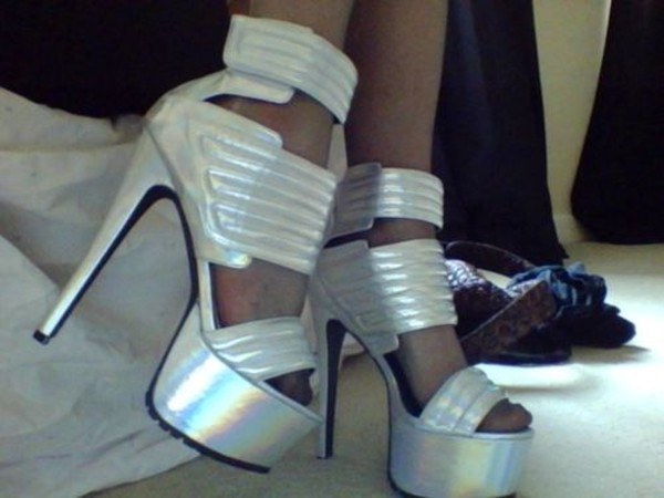 shoes holographic heels grunge pastel goth
